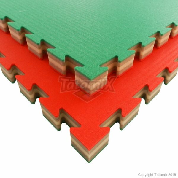 J40S XPE 100x100x4cm patroon Rijst/Stro   Rood Grijs Groen